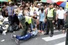 Riña a cuchillo en el Centro de Bucaramanga dejó dos heridos