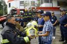 Niño que sufrió accidente se convirtió en un 'bomberito'