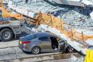 Varios muertos al derrumbarse puente peatonal en Miami