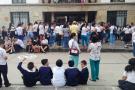 Se realizó marcha pacífica por mejoras del Colegio San Carlos