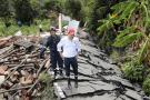 Vía en Enciso se ha desplazado 200 metros
