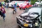 Cuatro personas heridas en choque de vehículos en Santander
