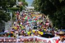 Manifestación de maestros se concentró frente a la Gobernación de Santander