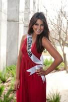 La candidata al título Miss Universo 2011 por Colombia, Catalina Robayo