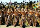 Integrantes de una comparsa que participa en el Carnaval de Barranquilla.