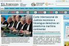 Así titulan los periódicos de Nicaragua el fallo marítimo ante Colombia