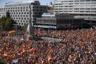Miles de personas protestaron en Madrid a favor de la unidad de España