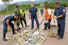 50 kilos de pólvora incautada fue incinerada por autoridades de Bucaramanga.