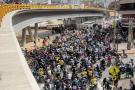 Caos, agresiones y bloqueo de vías deja protesta de mototaxistas
