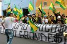 Hinchas del Atlético Bucaramanga protestaron contra los directivos