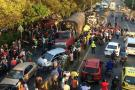 Grave accidente en Piedecuesta dejó 21 heridos y 12 vehículos involucrados