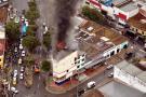 Atienden incendio en edificio del centro de Bucaramanga