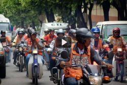 Así transcurrió la prueba del carril central para motos en Bucaramanga