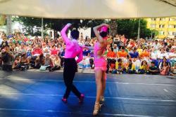 Los bailarines de danzas se encargaron de ambientar la actividad cultural.