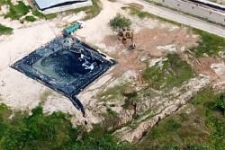 La fotografía corresponde a una de las últimas pruebas de la presunta contaminación que Rediba S.A. está cometiendo contra las fuentes de agua que abastecen al municipio. En ella se observaría cómo, presuntamente, esta piscina de lixiviados tiene una desembocadura ilegal.