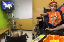 Niño con cáncer recibió saludo de 'Gokú','Freezer' y 'Vegeta'