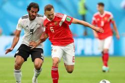 Rusia venció a 3-1 a Egipto y casi se asegura un cupo en los octavos de final