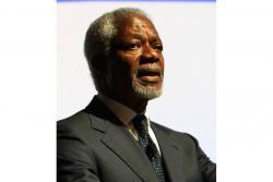 """El ghanés Annan era """"en muchos sentidos, las Naciones Unidas"""", según el actual responsable de la ONU, António Guterres."""