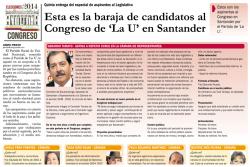 Esta es la baraja de candidatos al Congreso de 'La U' en Santander