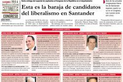 Esta es la baraja de candidatos del liberalismo en Santander
