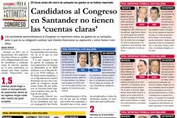 Candidatos al Congreso en Santander no tienen las 'cuentas claras'