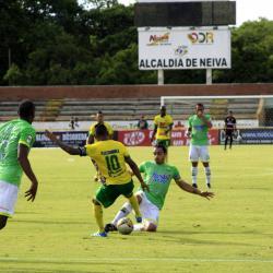 Atlético Bucaramanga cerró la Liga Águila I con un empate sin goles en casa del Huila, resultado que le permitió terminar el semestre por fuera de los puestos del descenso directo.