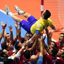 Así despidieron a Falcao, el mejor jugador del mundo de fútsal en Bucaramanga