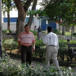 La Policía se tomó los puntos más críticos en materia de seguridad del sector del Parque Antonia Santos.
