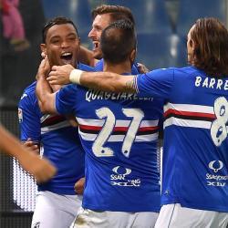 Muriel marcó en la victoria 2-1 de la Sampdoria ante el Génova