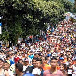 Imágenes del ¼ de Maratón en Bucaramanga