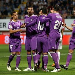 Con tres asistencias de James, Real Madrid aplastó 7-1 a Cultural Leonesa