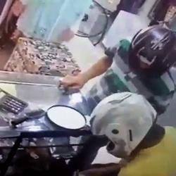 Video registró robo a almacén de ropa en Girón
