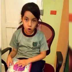 Vea qué respondió el Presidente Santos a niña santandereana que le pidió ayuda con su tarea