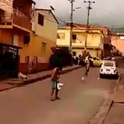 La intolerancia nos sigue matando: Video registró riña con cuchillos en Floridablanca