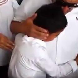 El doloroso momento en que el hijo de Martín Elías llega a despedirlo