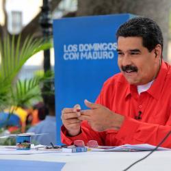 """Maduro atacó al """"emperador Donald Trump"""" y a """"su vasallo"""" Juan Manuel Santos"""