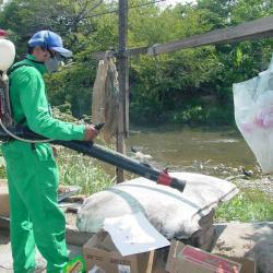 El municipio por tener cerca dos fuentes hídricas se ha convertido en una zona de alto riesgo, por el estancamiento de agua y la proliferación de criaderos de mosquitos.