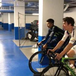 Video de Nairo y Rigoberto entrenando juntos se hizo viral en redes sociales