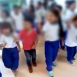 Polémica por video en el que se ve a niños que cantan música de despecho