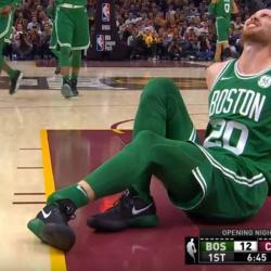 Cinco minutos duró el debut de un jugador de la NBA tras una grave lesión.