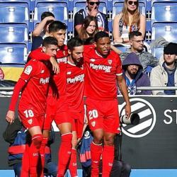Al estilo de Ronaldo Nazario, Luis Muriel marcó en el triunfo de Sevilla ante el Espanyol
