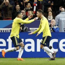 Las mejores imágenes de la victoria de Colombia 3-2 ante Francia
