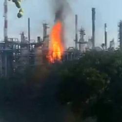 Controlan incendio en planta de la refinería de Barrancabermeja
