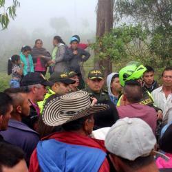 Piden aclara incidente con la Policía durante protesta contra minería en Santander