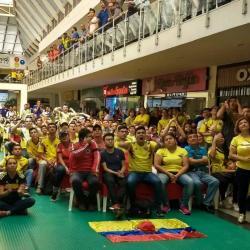Así vivieron los bumangueses el debut de Colombia en el Mundial