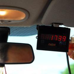 Según el denunciante el taxímetro pasó de 43 a 46, mientras el vehículo estaba parqueado.