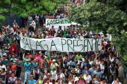 Así protestaron campesinos de Santander, Norte de Santander y Magdalena en Bucaramanga