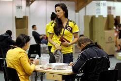 Imágenes de las elecciones presidenciales de Colombia