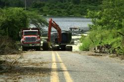 Así se inunda la vía antigua a Barrancabermeja
