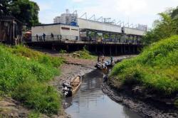 Imágenes de los efectos devastadores de la sequía en el río Magdalena en Santander